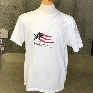 Vintage Nautica Star & Stripes T Shirt